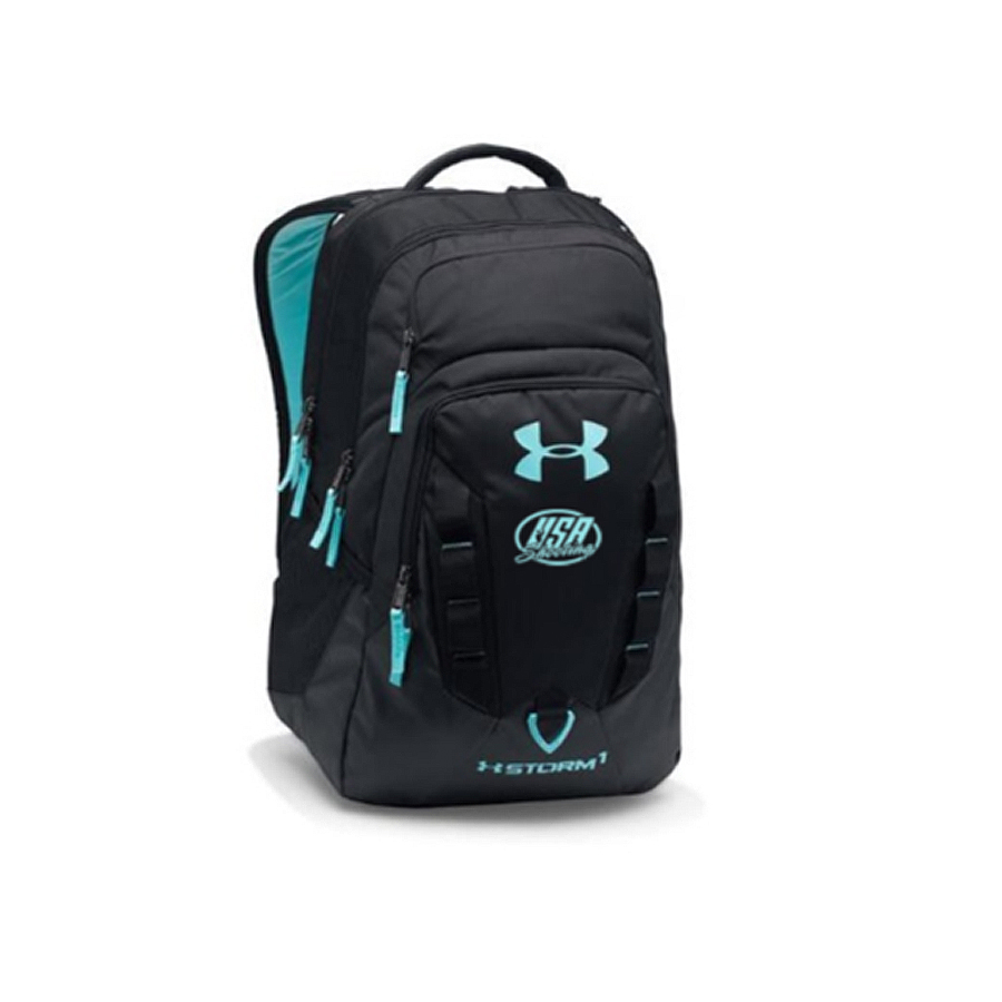 UA Storm Recruit Backpack - Black and Light Blue
