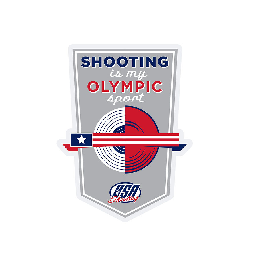 Shooting is My Olympic Sport Sticker
