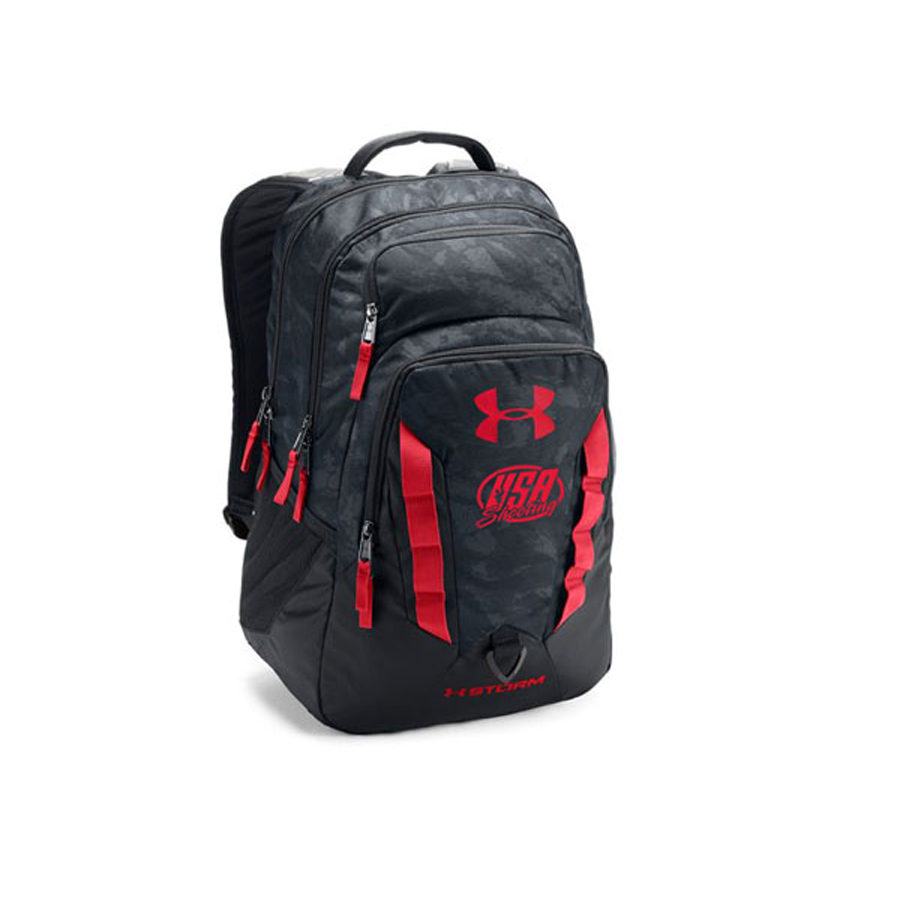 UA Storm Recruit Backpack - Red/Black Camo