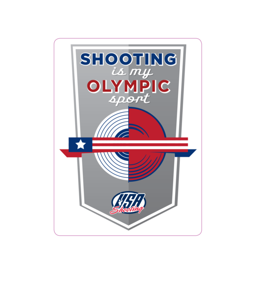 Shooting is My Olympic Sport - Window Decal