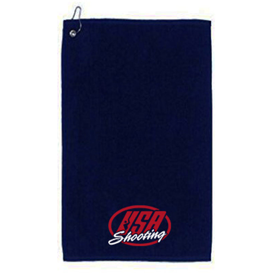 USAS Logo Velour Towel - Navy