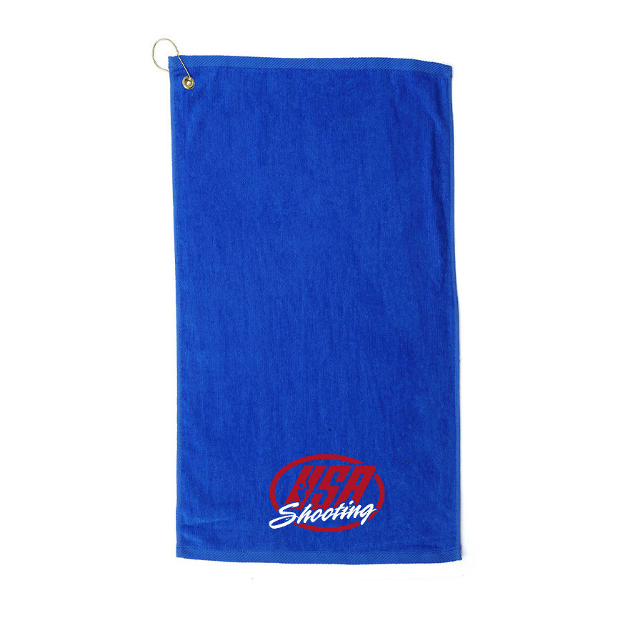 USAS Logo Velour Towel - Royal Blue
