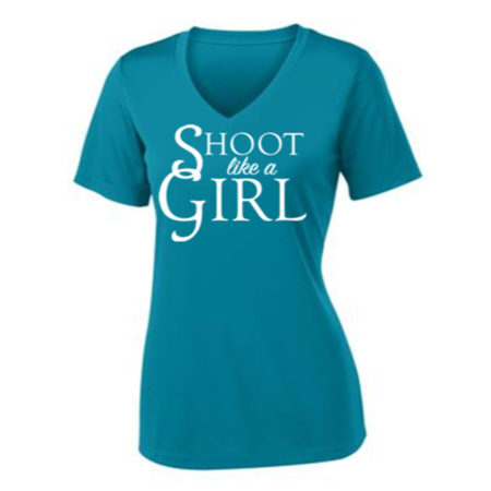 Shoot Like a Girl T-Shirt Front
