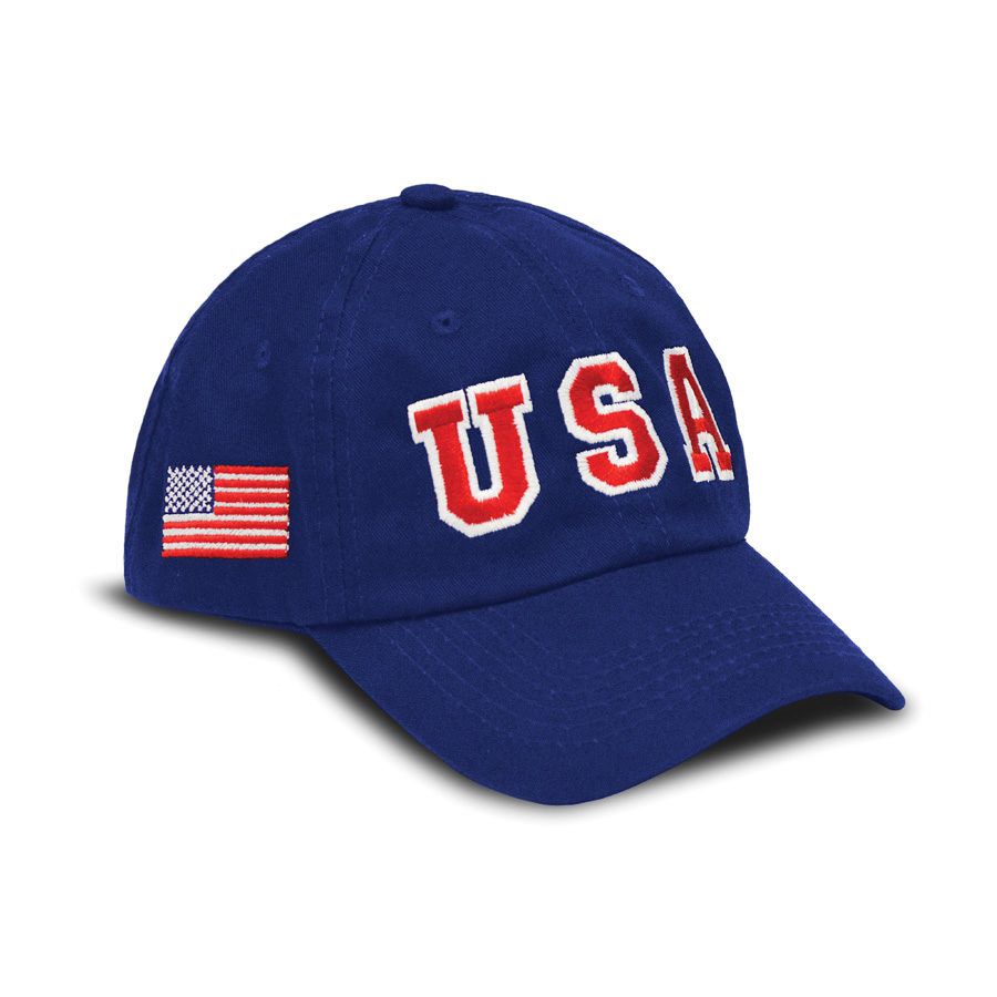 USA Hat Big Logo - Royal Blue