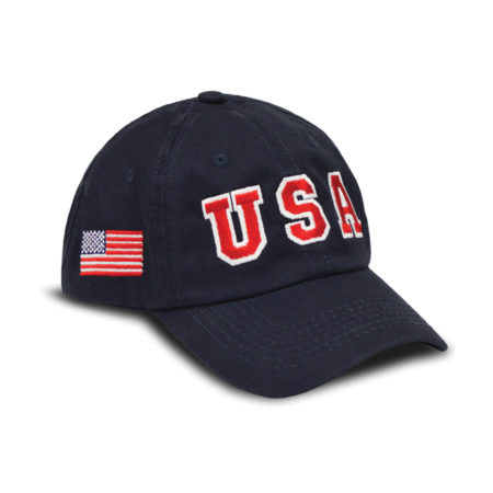 USA Hat Big Logo - Navy
