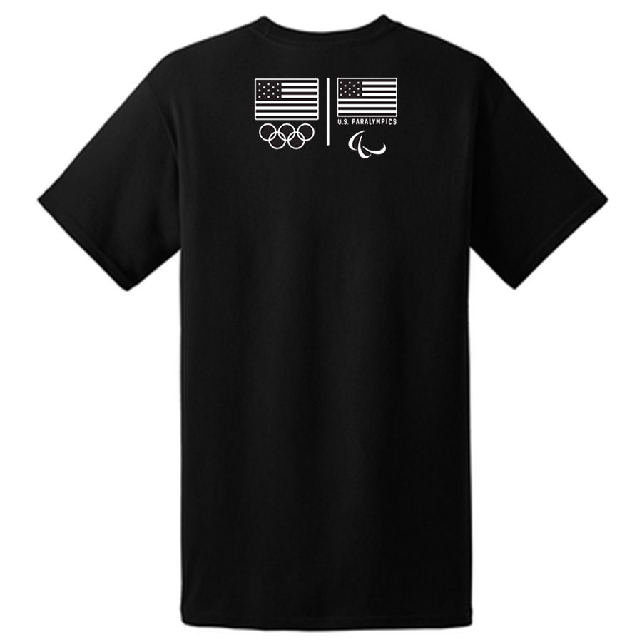 Team USA Shooting T-Shirt Black Back