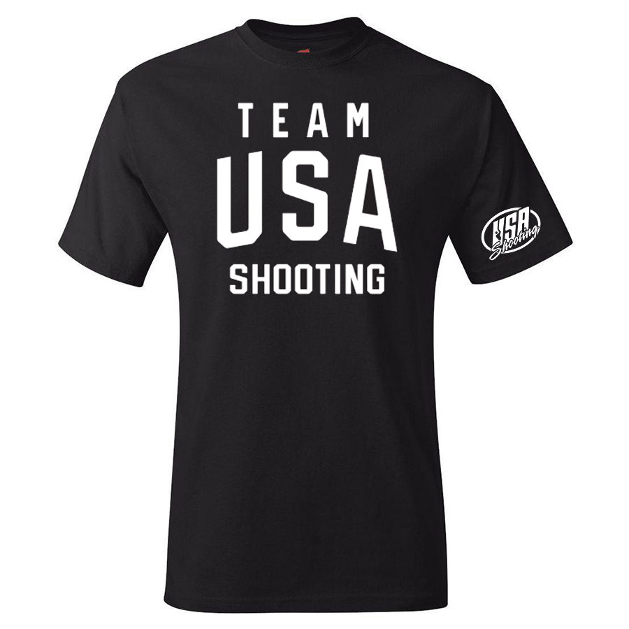 Team USA Shooting T-Shirt Black Front