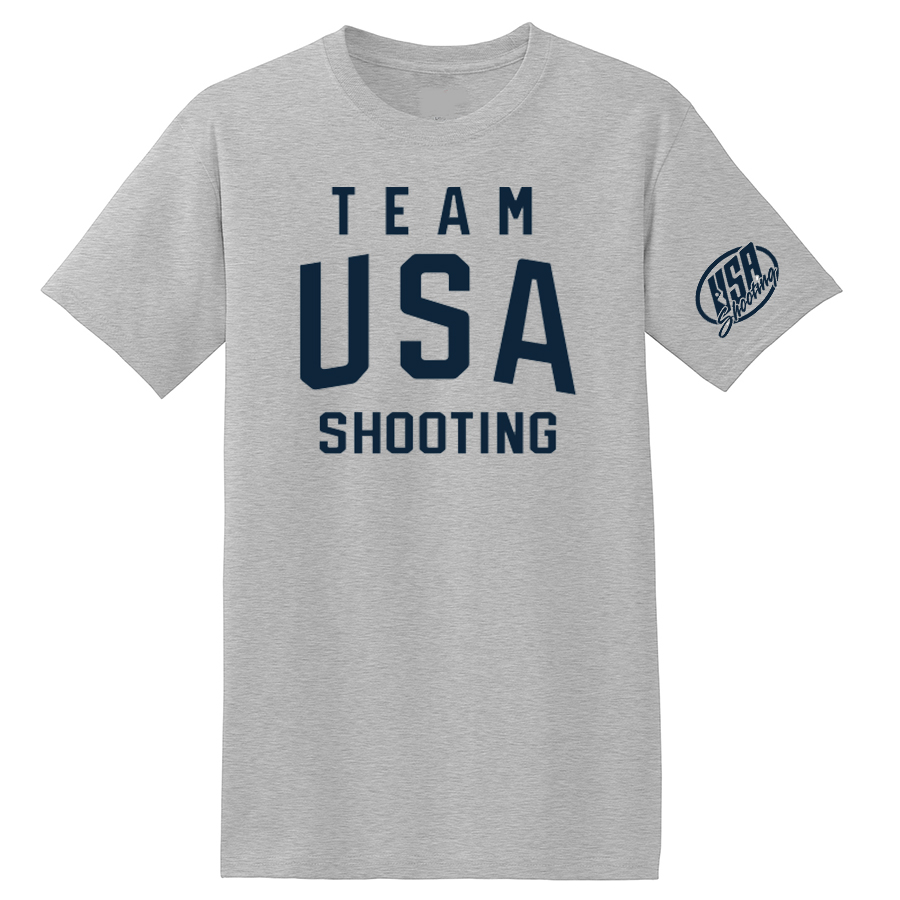 Team USA Shooting T-Shirt Grey Front