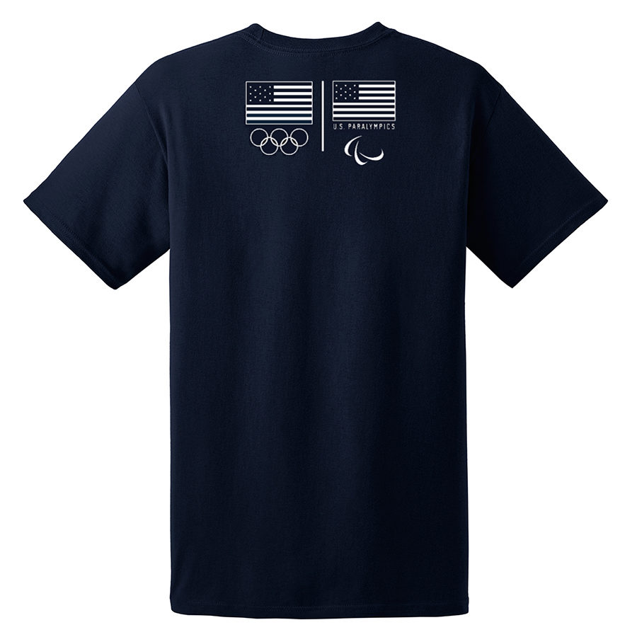 Team USA Shooting T-Shirt Navy Back