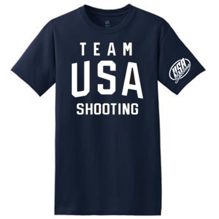 Team USA Shooting T-Shirt Navy Front