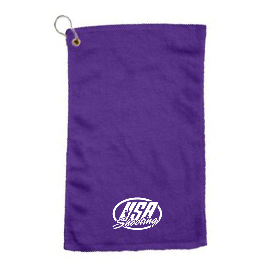 USAS Logo Velour Towel - Purple