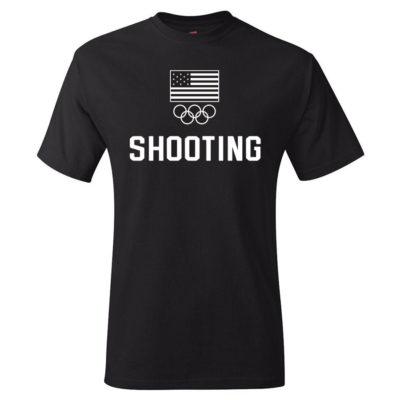 Team USA Shooting Rings T-Shirt Black
