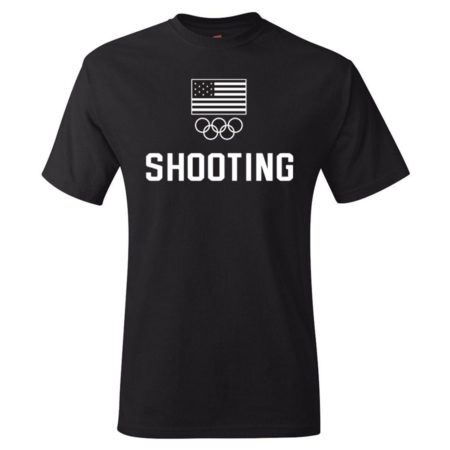Team USA Shooting Rings T-Shirt Black