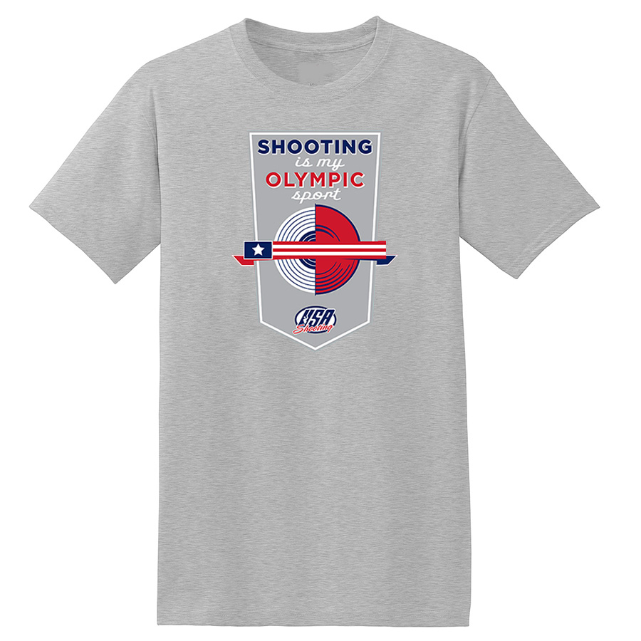 Shooting is My Olympic Sport T-Shirt Grey