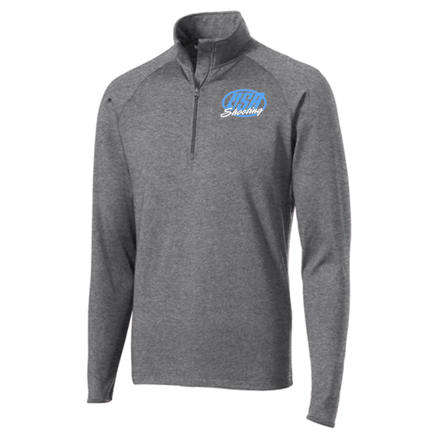 Men's Sport-Tek® Sport-Wick® Stretch 1/2-Zip Pullover Charcoal Grey Heather
