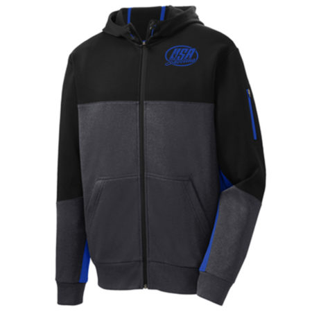 Men's Sport-Tek® Tech Fleece Colorblock Full-Zip Hooded Jacket