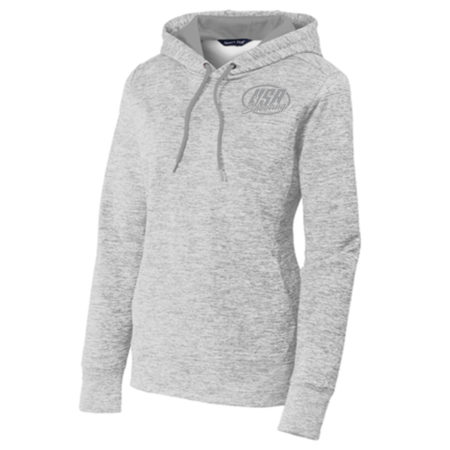 Women's Sport-Tek® PosiCharge® Electric Heather Fleece Hooded Pullover