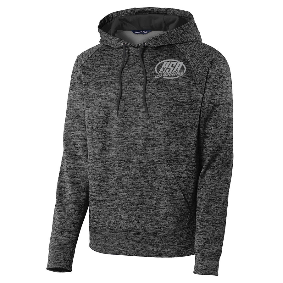 Men's Sport-Tek® PosiCharge® Electric Heather Fleece Hooded Pullover