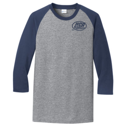 Men's Port & Company® Core Blend 3/4-Sleeve Raglan Tee