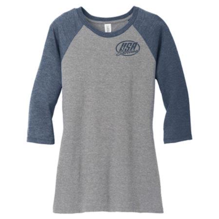 Women's District Made® Perfect Tri® 3/4-Sleeve Raglan