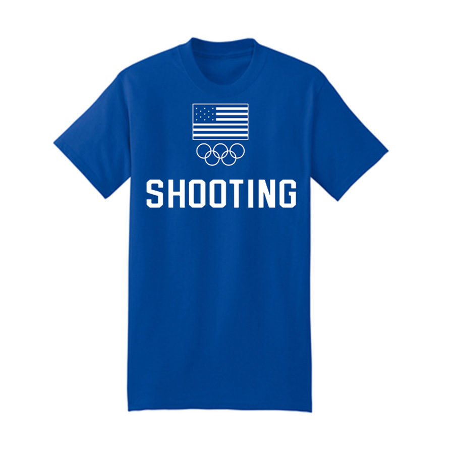 Team USA Shooting Rings T-Shirt Blue