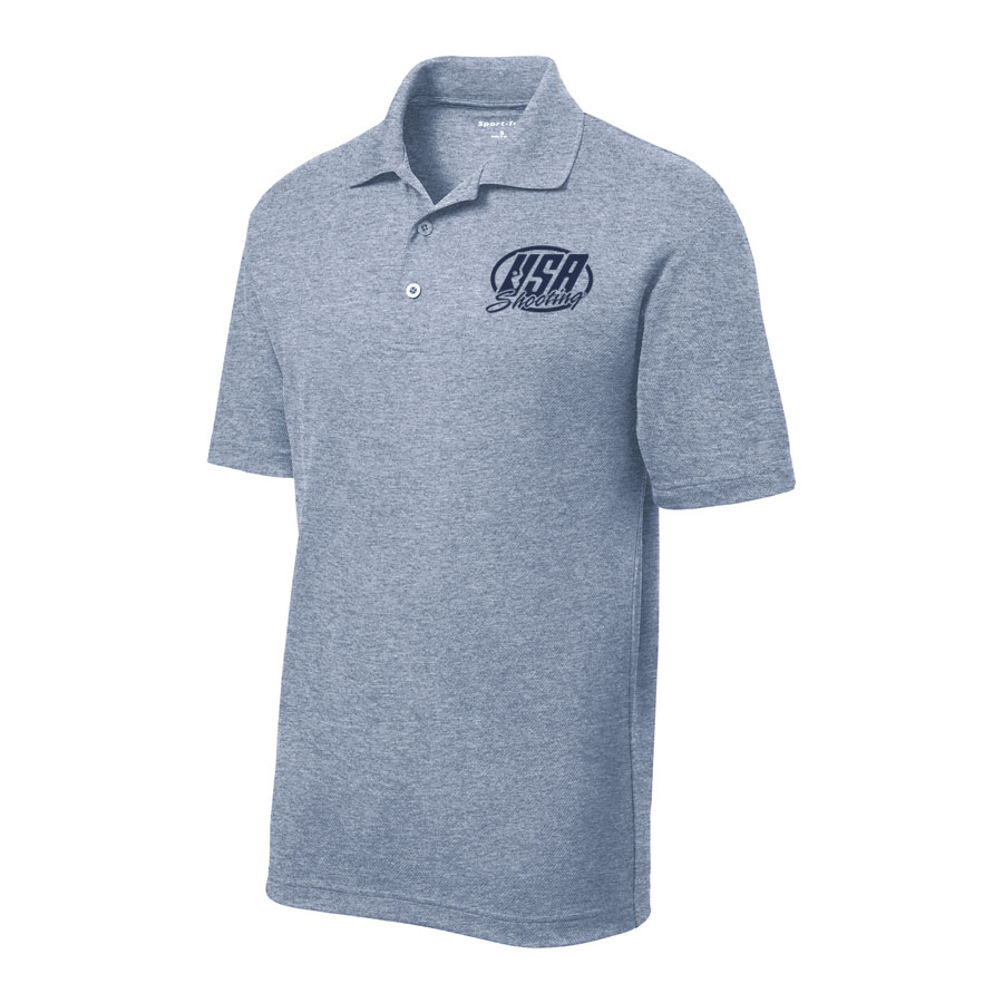 Men's Sport-Tek PosiCharge RacerMesh Polo True Navy Heather