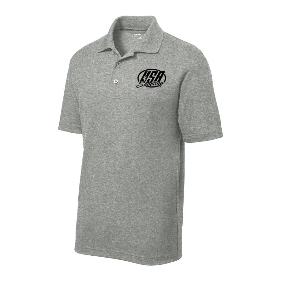 Men's Sport-Tek PosiCharge RacerMesh Polo Grey Heather