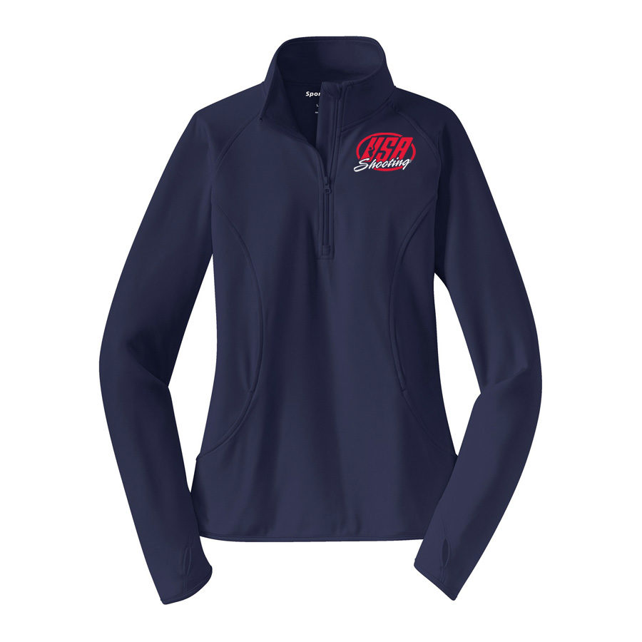 Women's Sport-Tek® Sport-Wick Stretch 1/2-Zip Pullover True Navy