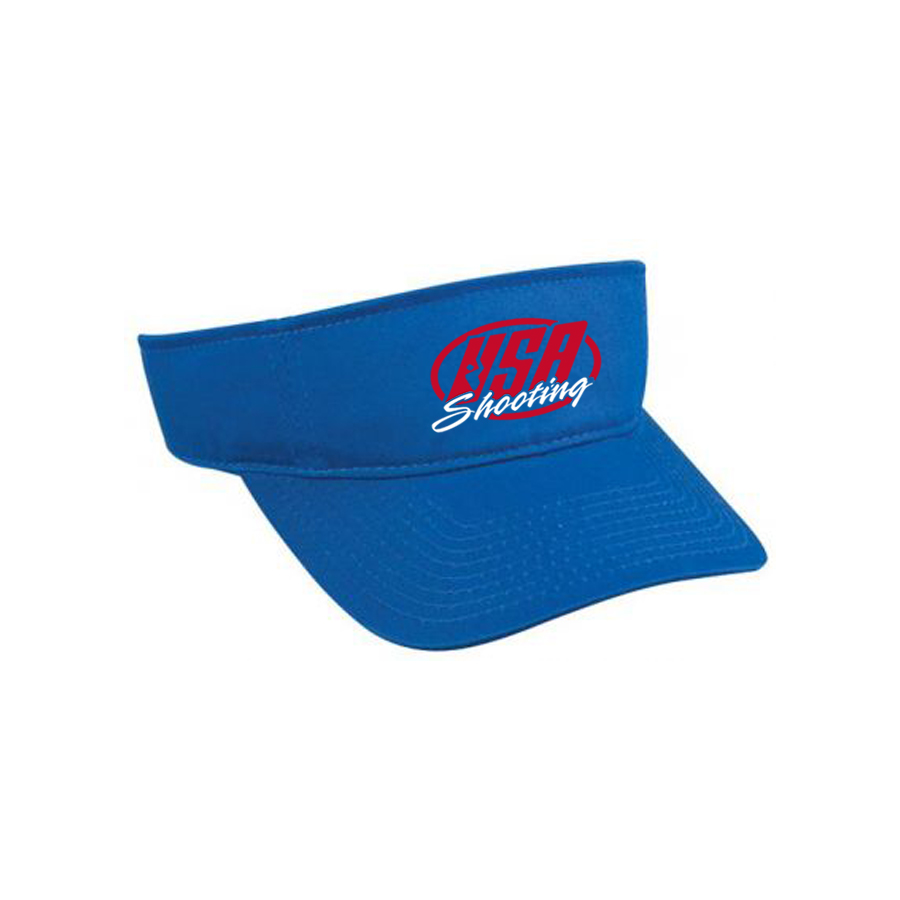 USA Shooting Logo Visor - Royal Blue