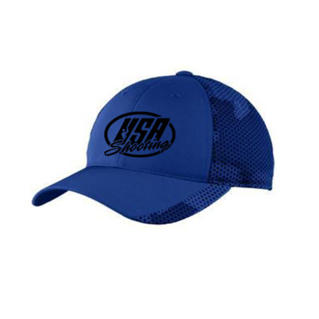 USA Shooting Logo Sport-Tek® CamoHex Cap - True Royal