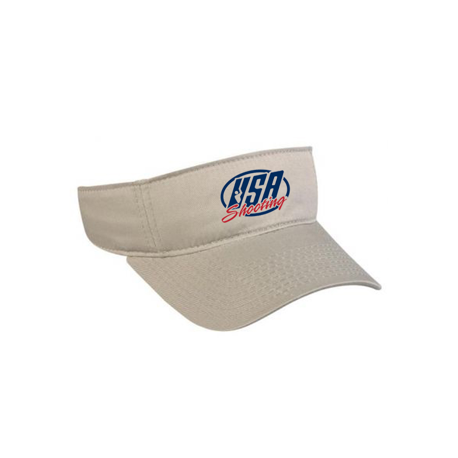 USA Shooting Logo Visor - Kahki