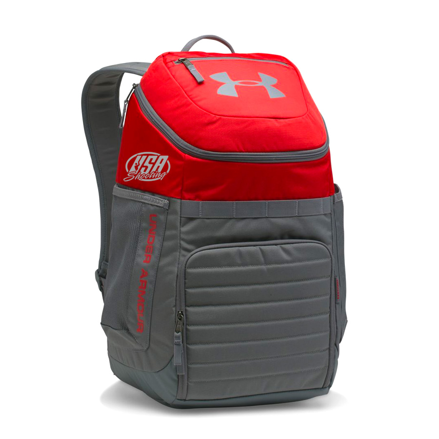 USA Shooting UA Team Undeniable Backpack - Red/Grey