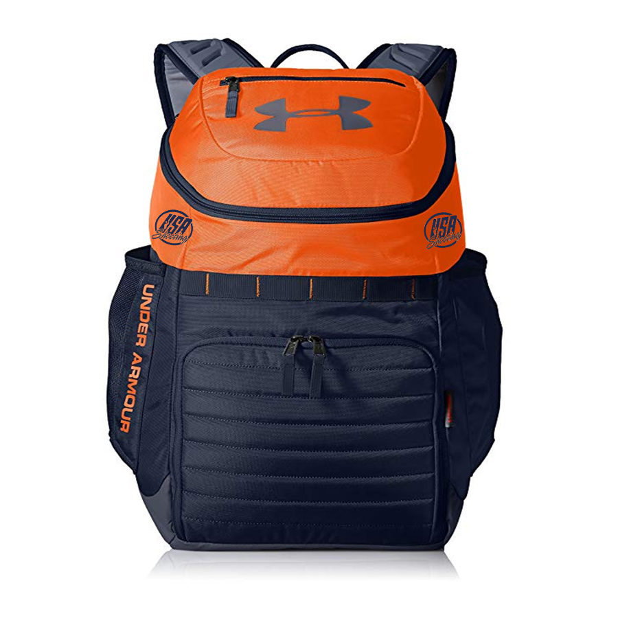 USA Shooting UA Team Undeniable Backpack - Orange/Navy