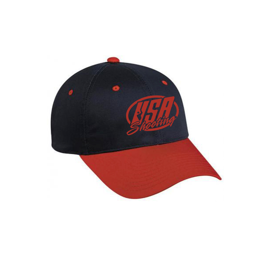 USA Shooting Logo Hat - Navy/Red