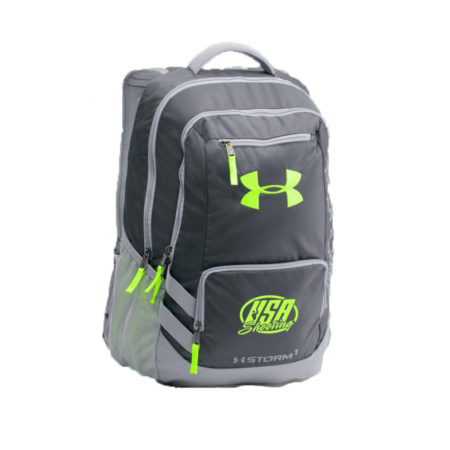 USA Shooting UA Storm Hustle II Backpack - Stealth Grey Steel/Hyper Green