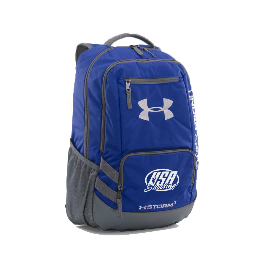 USA Shooting UA Storm Hustle II Backpack - Royal/Graphite/Silver