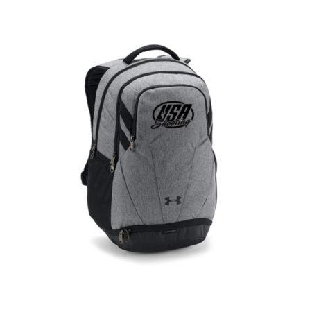 USA Shooting Team Hustle 3.0 Backpack - Graphite Medium Heather/Black/White