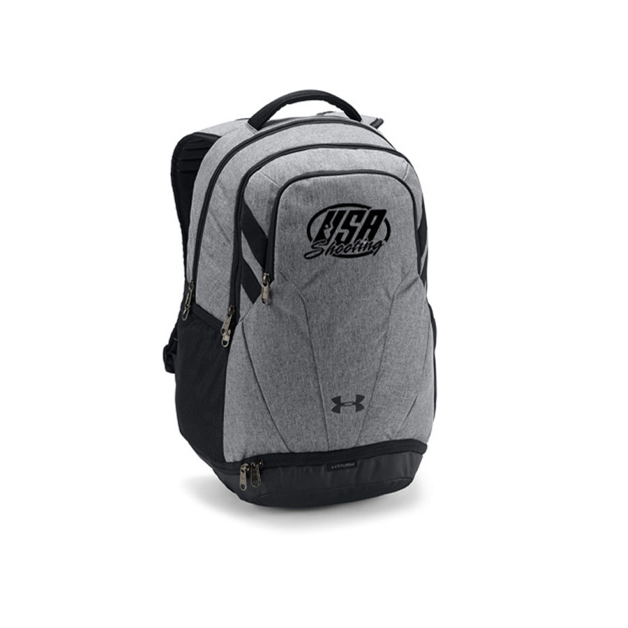 USA Shooting Team Hustle 3.0 Backpack - Graphite Medium Heather/Black/White