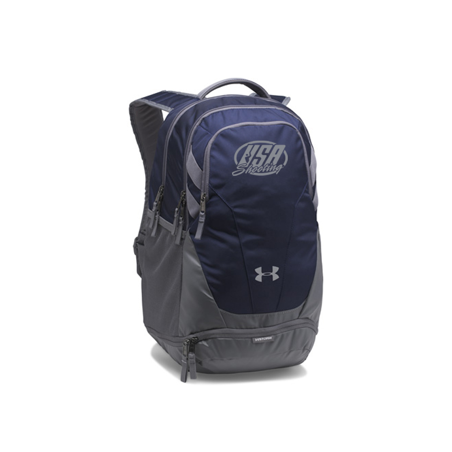 USA Shooting Team Hustle 3.0 Backpack - Midnight Navy/Grey/Grey