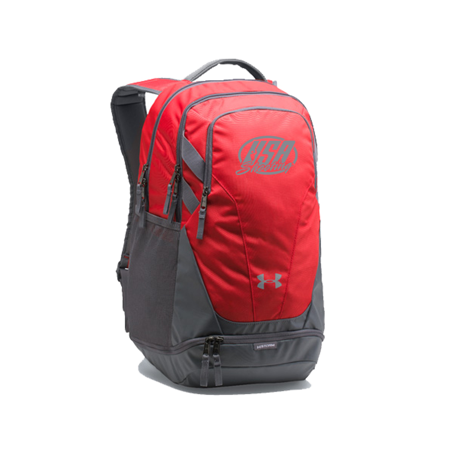USA Shooting Team Hustle 3.0 Backpack - Red/GreyGrey