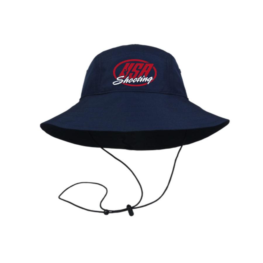 USA Shooting Logo Boonie Hat - Navy