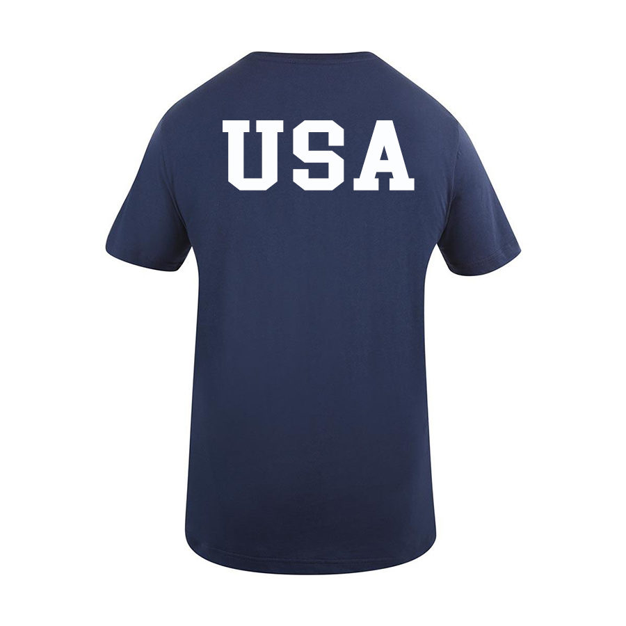 USA Shooting - USA T-Shirt Back - Navy