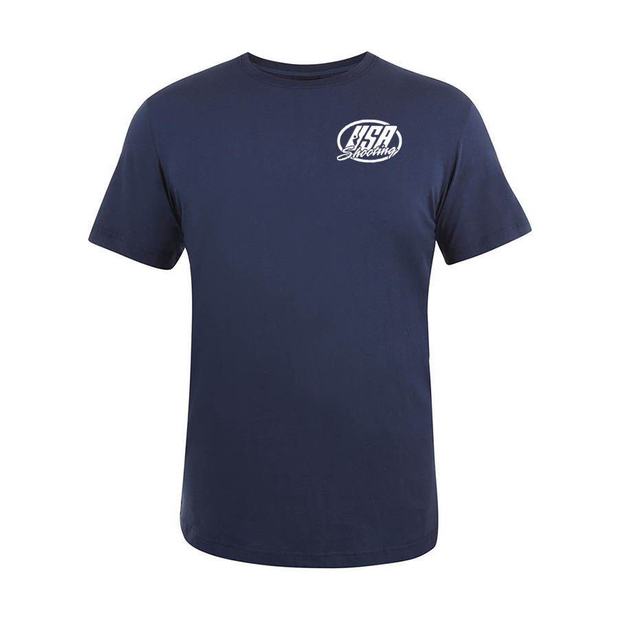 USA Shooting - USA T-Shirt Front - Navy