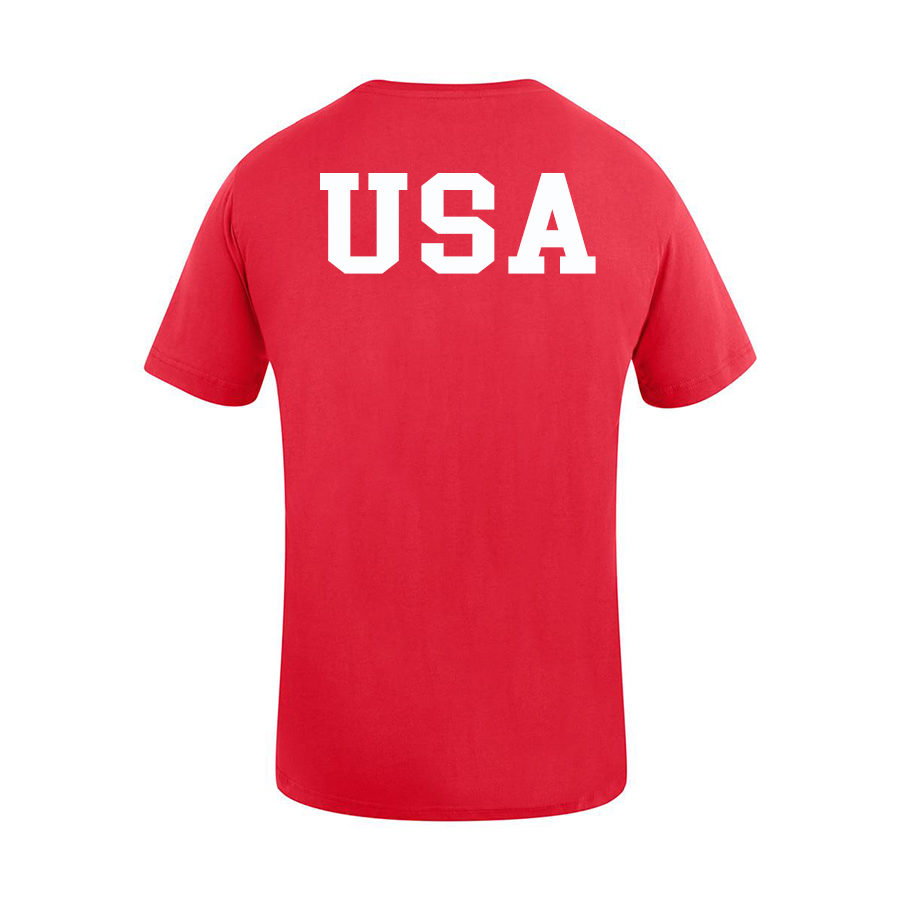 USA Shooting - USA T-Shirt Back - Red