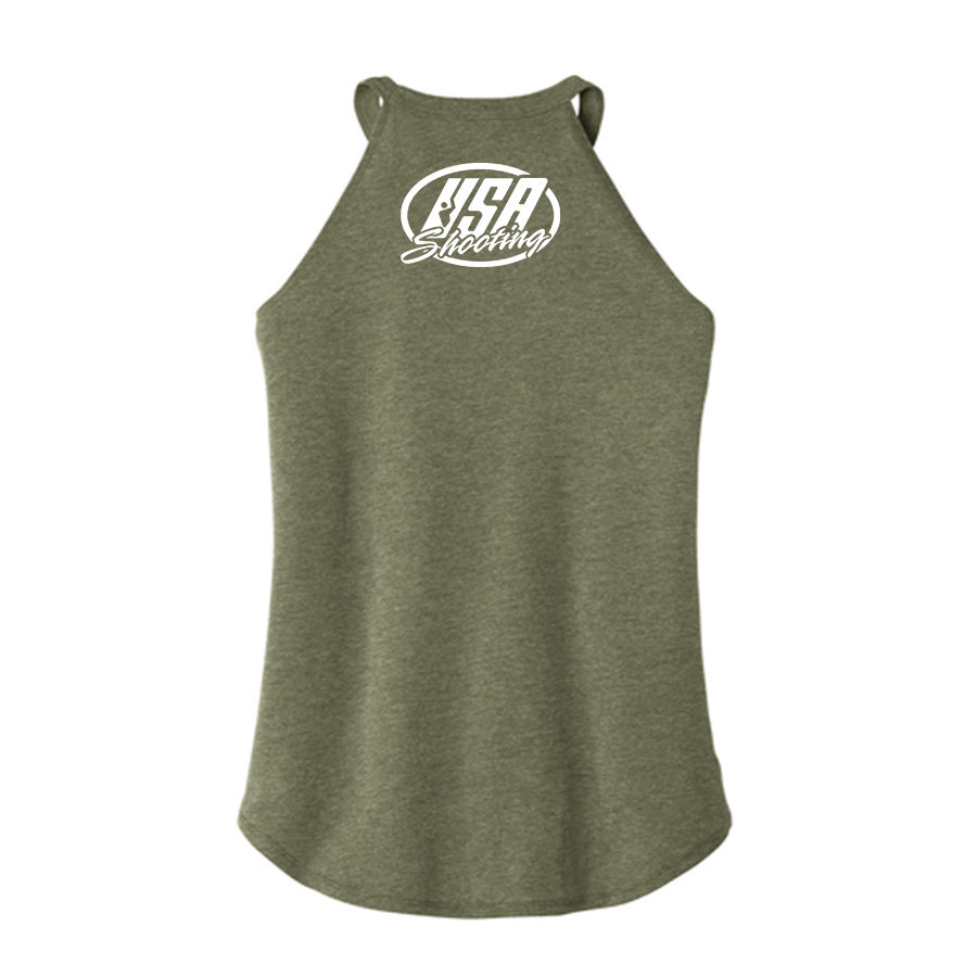 USA Shooting - Shoot Like A Girl Tank Top Back Green