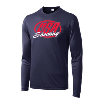 USA Shooting - Performance Long Sleeve Tee Navy