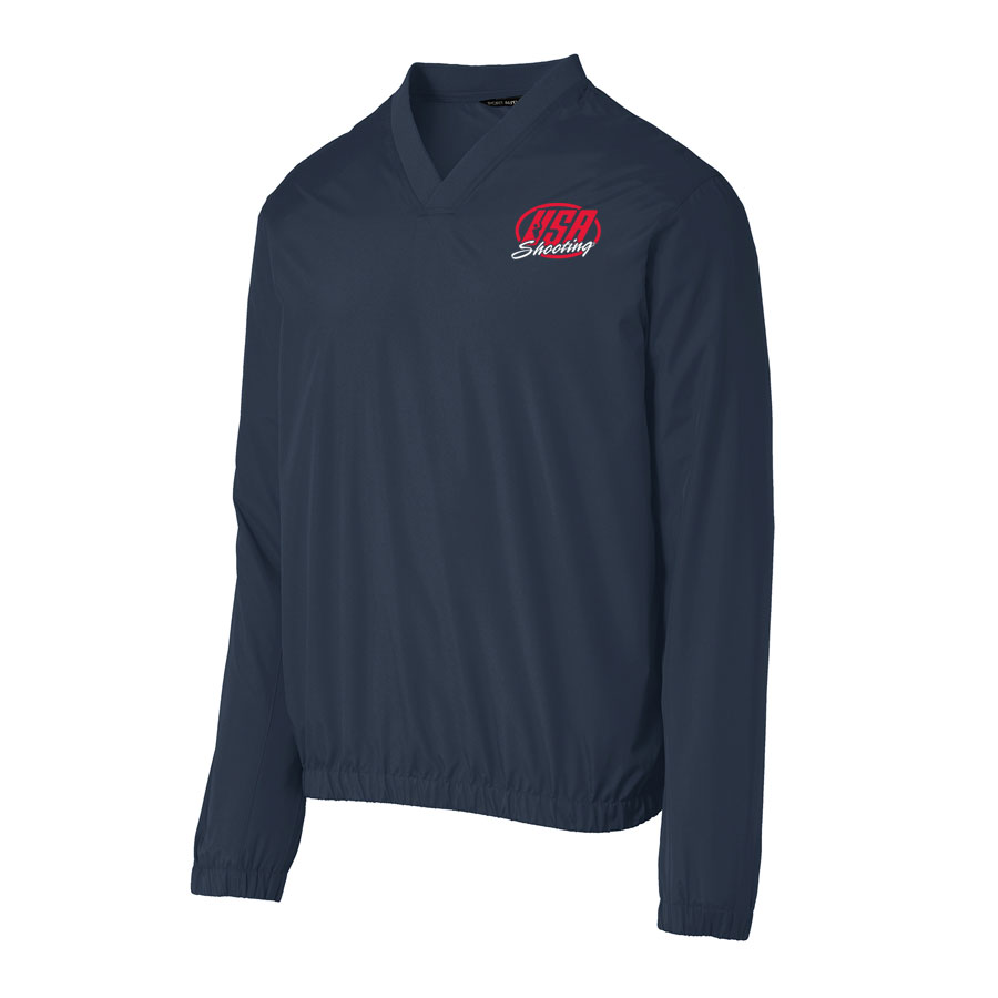 USA Shooting - Port Authority Zephyr V-Neck Pullover Navy