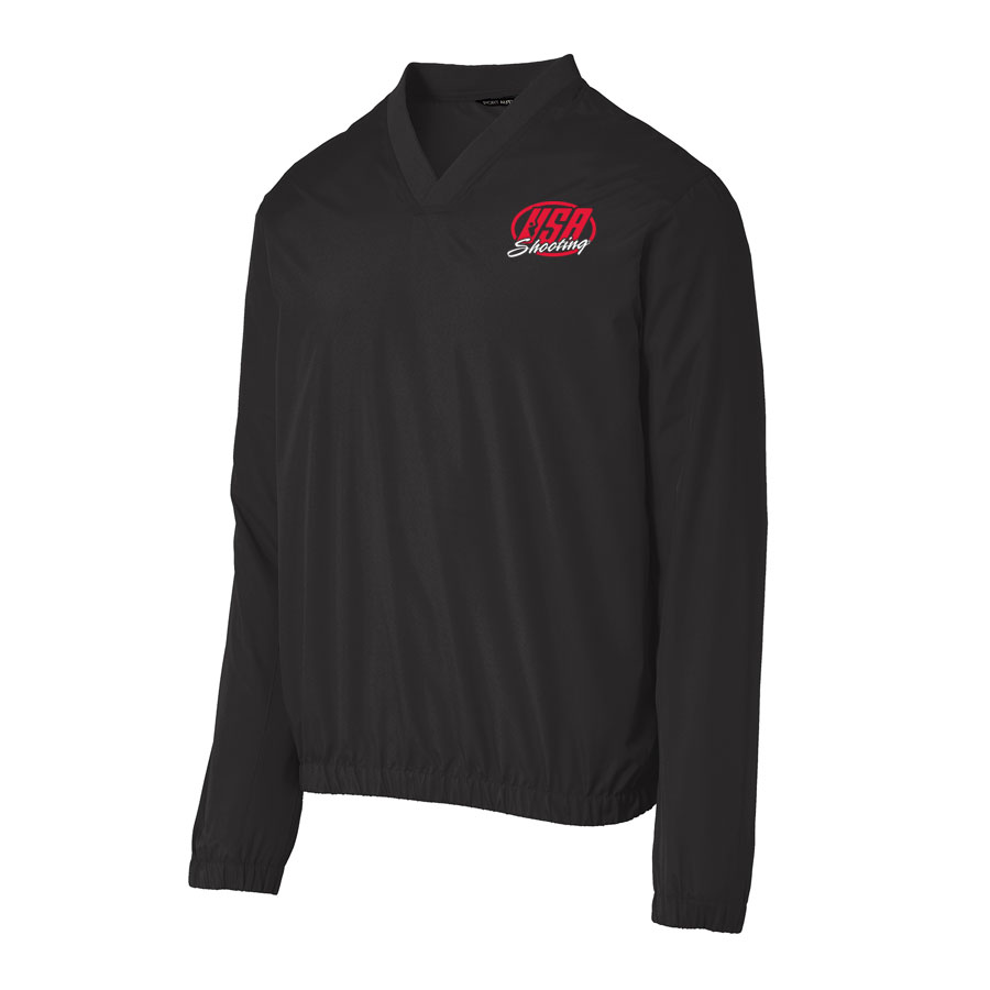 USA Shooting - Port Authority Zephyr V-Neck Pullover Black