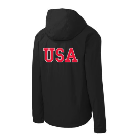 USA Shooting - Port Authority Torrent Waterproof Jacket Back Black