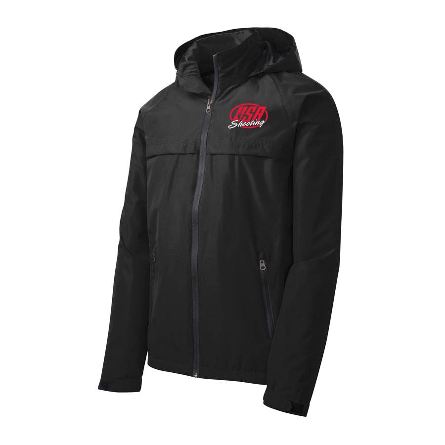 USA Shooting - Port Authority Torrent Waterproof Jacket Front Black